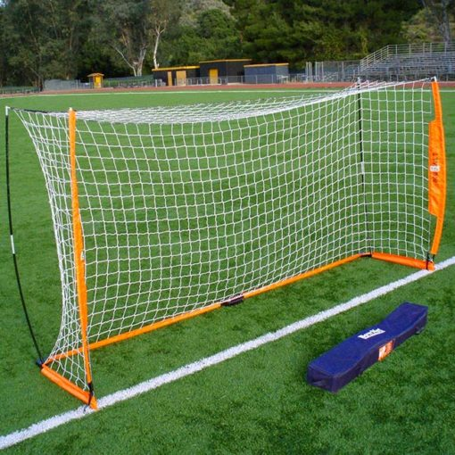 Model #BOWNET612. 6' x 12' portable Bownet soccer goal with carry case.
