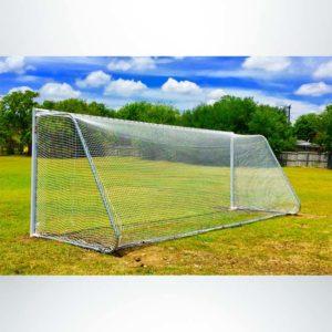 Model #MAL824. 8' x 24' movable aluminum soccer goal.