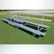 3 Row Bleachers with Backrest and Aisle.
