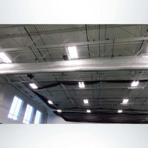 Froedart Rehab Facility. Batting Cages and Divider Curtain Raised Position.