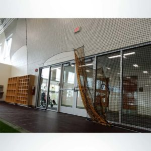 Froedart Rehab Facility. Protective Netting for Athletic Facility with Doorway.