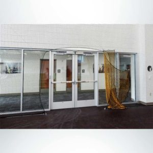 Froedtert Rehab Facility. Protective Netting for Athletic Facility with Doorway.