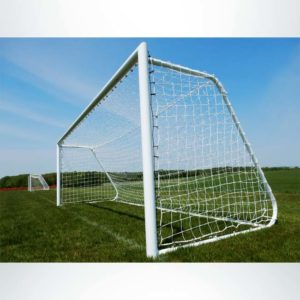 Model #MAL66186PC. Movable Aluminum Soccer Goal With Cable Net. 6'6x18'6.