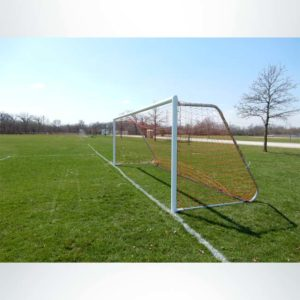 Model #MAL721PC. Movable Aluminum Soccer Goal With Cable Net. 7x21.