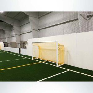 Model #MAL612. 6' x 12' movable aluminum soccer goal with custom back depth.