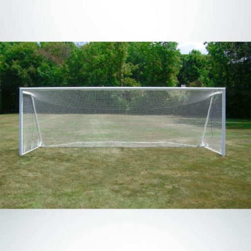Model #MAL824ALC Movable aluminum soccer goal with channel net attachment. 8' x 24'.