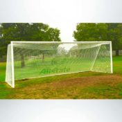 Soccer Net with Custom Logo.