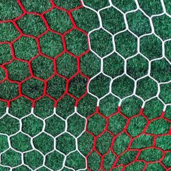 "3mm 4"" hexagon mesh net checkered."