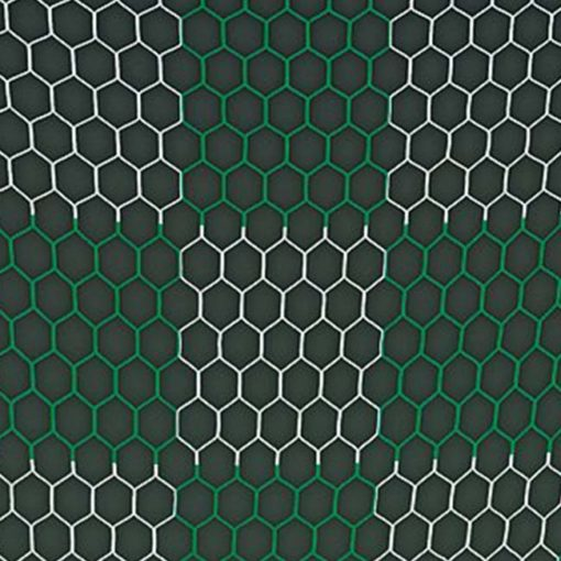 Green and white checkered net.