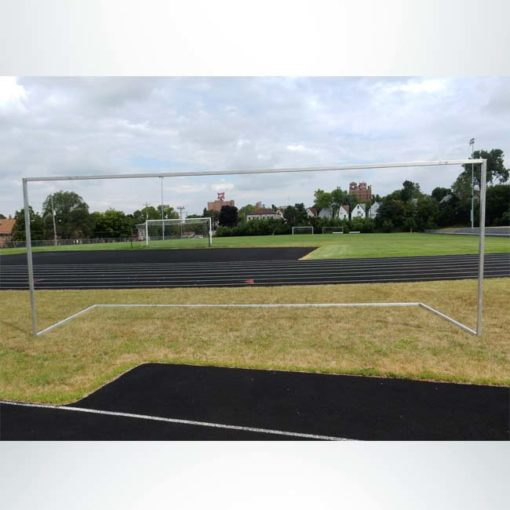 Model #SGE2824. Economy aluminum soccer goal shown without net.
