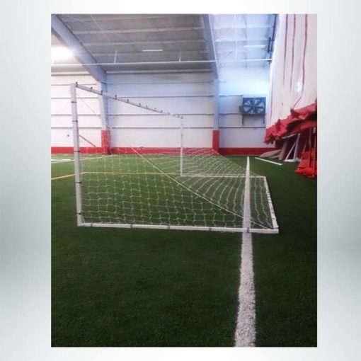 Model #SGE2824. Economy aluminum soccer goal powder coated white.
