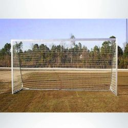 Sgm42824w 4 inch by 2 inch movable aluminum soccer goal