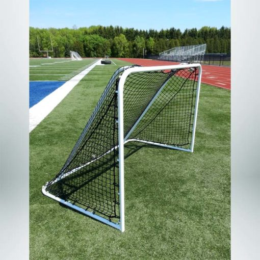 Model #SS64LS2. 6'x4' Steel Soccer Goal. 2in Black Mesh Net Included.