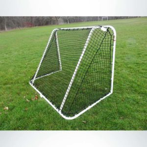 Model #SS64LS2. 6'x4' Steel Soccer Goal. Back of Goal. 2in Black Mesh Net Included.