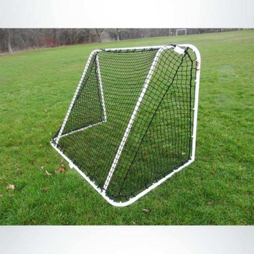 """Model #SS64LS2. 6' x 4' steel soccer goal. Back of goal. 2"""" black mesh net included."""