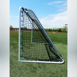 Model #SS64LS2. 6'x4' Steel Soccer Goal. Side of Goal. 2in Black Mesh Net Included.