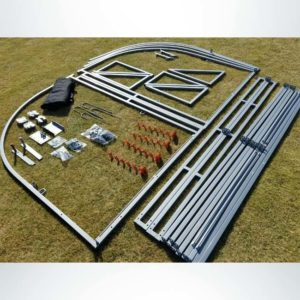 Model #SW1000. Parts Components of Economy Athletic Team Shelter.
