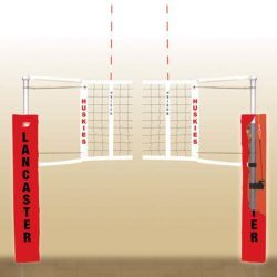 Vb2000xx bison centerline elite steel hybrid volleyball system