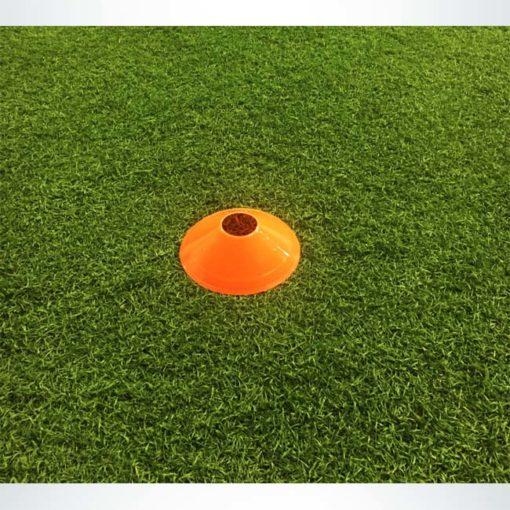 "Model #DCORANGE. Orange disc cone. 7"" wide. For soccer field marking."