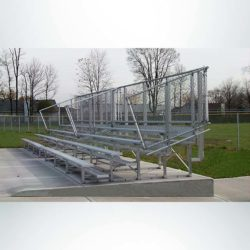 Model #KGNB0515GTSD. 5 row bleacher with guardrail.