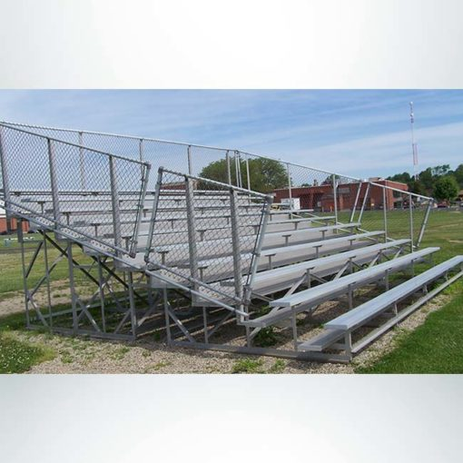 Model #KGNB1015GTSD. 10 Row Bleacher with Guardrail.