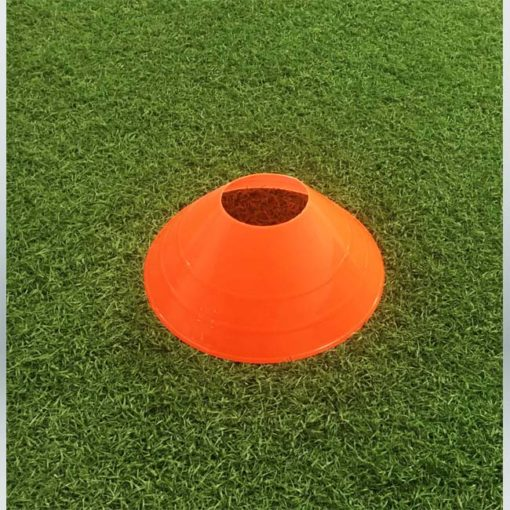 "Model #LDCORANGE. Large orange disc cone. 12"" wide x 4"" tall. For soccer field marking."