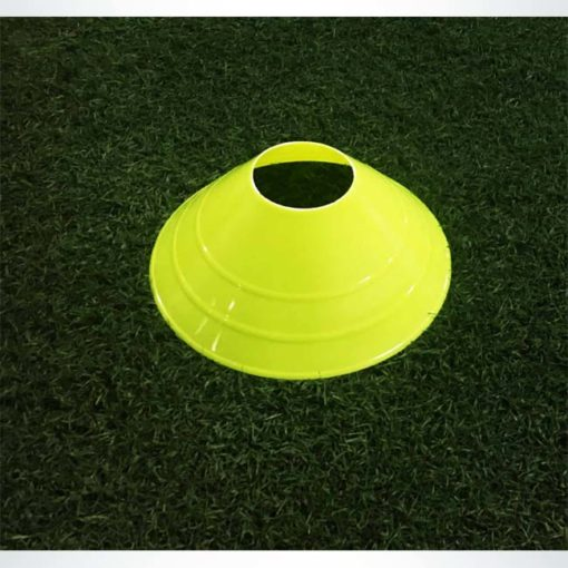 "Model #LDCYELLOW. Large yellow disc cone. 12"" wide x 4"" tall. For soccer field marking."