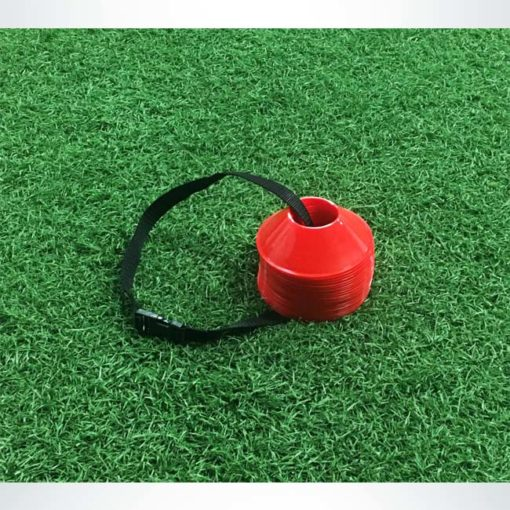 Model #MDCRED. Mini disc cone for soccer field marking.