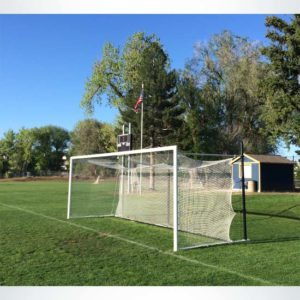 Model #MS803P. Movable Stadium Cup soccer goal with 3 backstays.