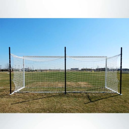 Model #MS803P. Movable Stadium Cup soccer goal with backstays. Back of goal.