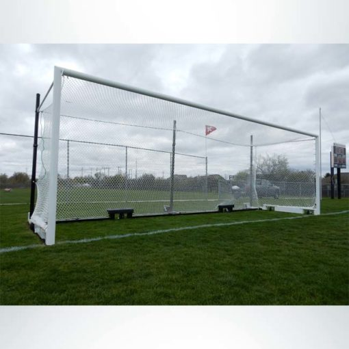 Model #MS88WRD4. Wheeled Stadium Cup soccer goal. 3 back-up posts. Caster wheels built into base of soccer goal make it easy to move.