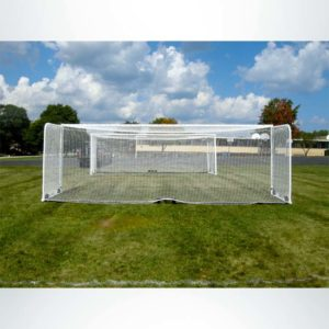 Model #M88WRD4824BOX66. Stadium Box Style Wheeled Soccer Goal. Back View.