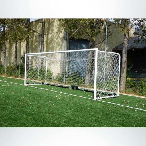 Model #M88WRD4824BOX66. Stadium box style wheeled soccer goal with backstays.
