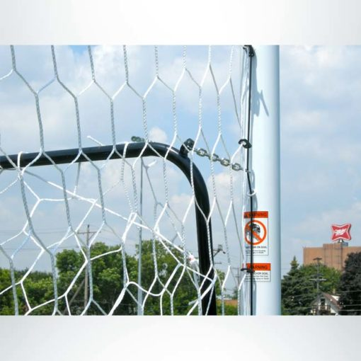 Model #NSBS80. Net storage bar for Stadium Cup soccer goals to raise net for mowing.