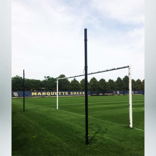 Model #S80 Stadium cup soccer goals with no net. Shows back-up posts.