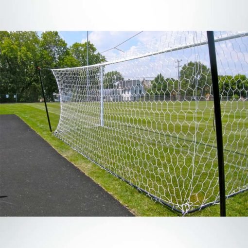 Model #S80NSB. Net storage bar to raise net on Stadium Cup soccer goals for mowing. Back view.