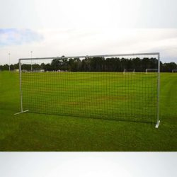 Model #EFSG2824. 8' x 24' economy flat soccer shooting goal.