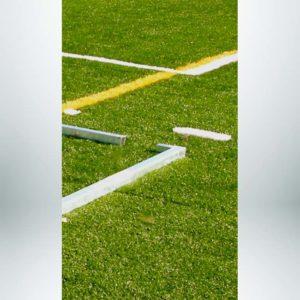 Model #EFSG2824. 8' x 24' Economy Flat Soccer Shooting Goal Corner.