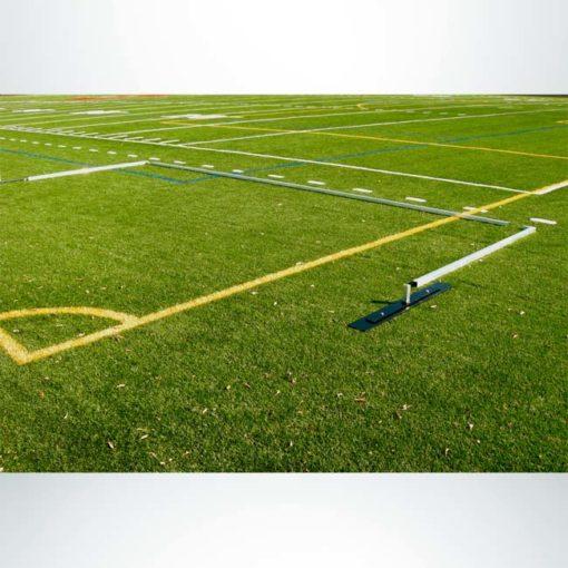 Model #EFSG2824. 8' x 24' economy flat soccer shooting goal pieces.