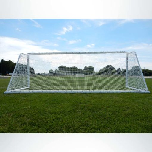 "Model #ELITE4RD66186. Elite Soccer goal. 6'6"" x 18'6"". Back side."