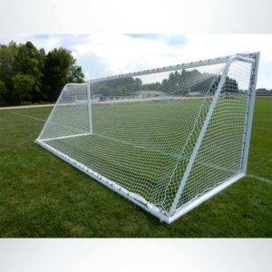 Model #ELITE4RD66186. Elite Soccer Goal. 6ft 6in x 18ft 6in. Back Side.