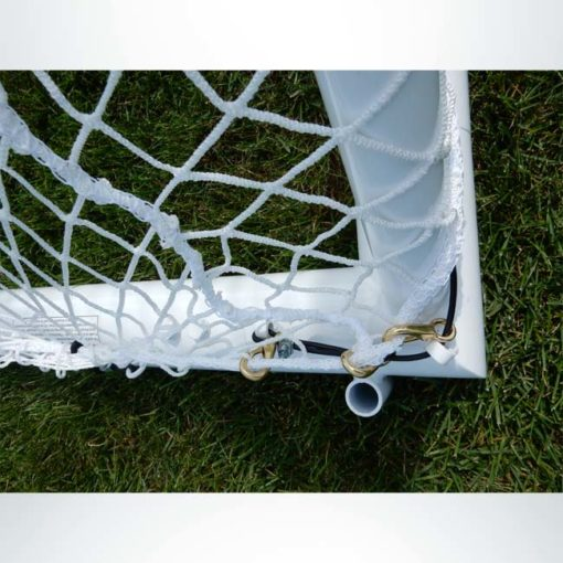 "Model #ELITE4RD66186. Elite Soccer goal. 6'6"" x 18'6"". Side panel."