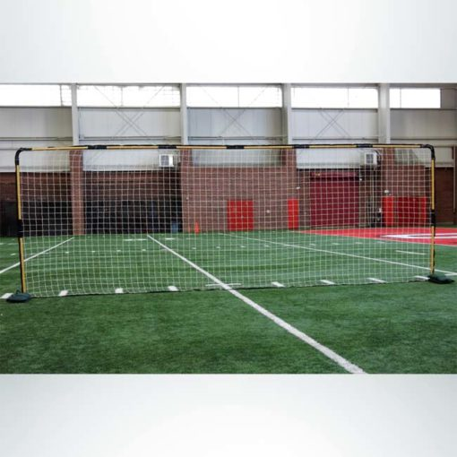 Model #FFIT. Indoor flat soccer shooting goal with sand bags.