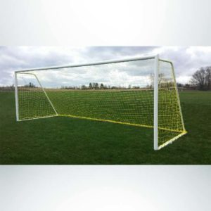 Model #m83824rd4 m-series movable steel heavy duty soccer goal with yellow net front