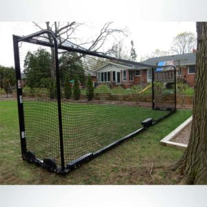 Model #M88WRD482448 Wheeled Soccer Goal with Custom Back Depth and Custom Color Black.