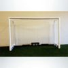 M88WRD4CASTER. Heavy Duty Wheeled Futsal Goal with Caster Wheels and 4inch Round Posts.