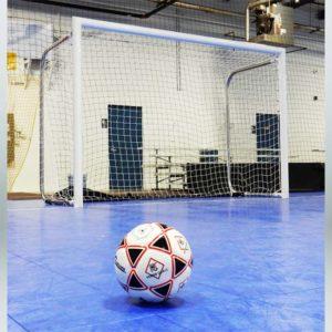 Model #MALFUTSAL6710. 4 inch Round Aluminum Futsal Goal.