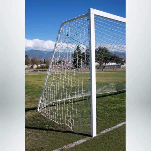 Model #P824AC. Semi-permanent 8' x 24' regulation soccer goal American style.