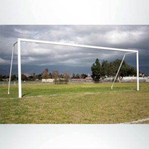 Model #P824AC. Semi-permanent 8foot x 24foot Regulation Soccer Goal American Style. No Net.