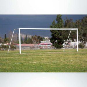 Model #P824AC. Semi-permanent 8foot x 24foot Regulation Soccer Goal American Style.